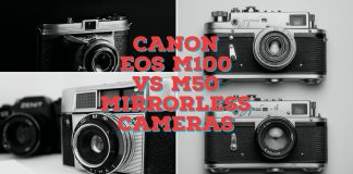 Canon EOS M100 vs M50 Mirrorless Cameras