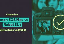 Canon EOS M50 vs Rebel SL3