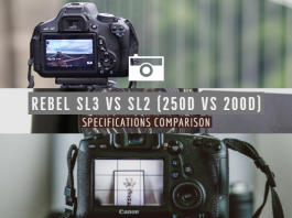 Rebel SL3 vs SL2 (250D vs 200D) Specifications Comparison