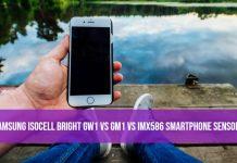 Samsung ISOCELL Bright GW1 vs GM1 vs IMX586 Smartphone Sensors
