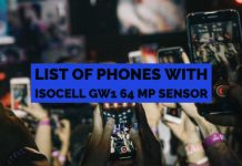 List of Phones with ISOCELL GW1 64 MP Sensor