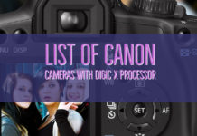 List of Canon Cameras with Digic X Processor