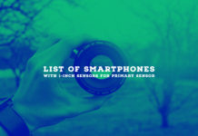 List of Smartphones with 1-Inch Sensors for Primary Sensor